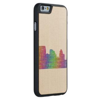 Baltimore skyline carved® maple iPhone 6 slim case