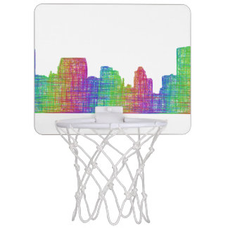 Baltimore skyline mini basketball hoop