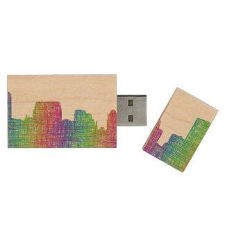 Baltimore skyline wood USB 3.0 flash drive