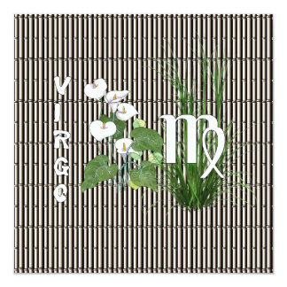 Bamboo and Lily Virgo Card