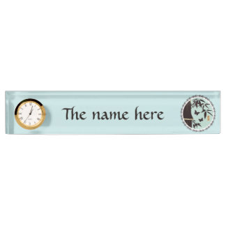 "Bamboo butterflies turquoise blue ""Hope"" Nameplate"