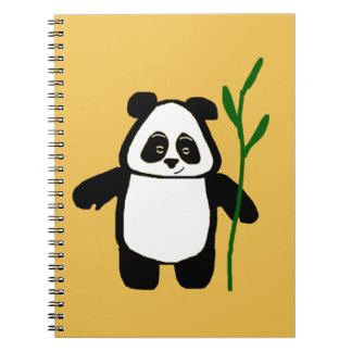 Bamboo the Panda Yellow Notebook