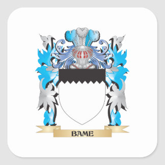 Bame Coat of Arms Square Stickers
