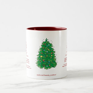 Banana Bread Christmas Two-Tone Mug