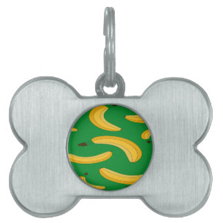 Banana fruit pattern pet tags