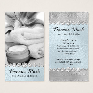 Banana Mask Skincare Cream Homemade Anti AGING Business Card