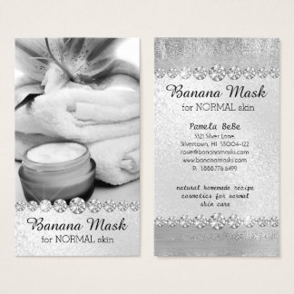 Banana Mask Skincare Cream Homemade Recipe Massage Business Card