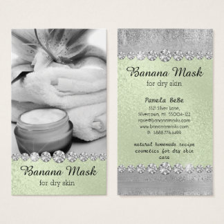Banana Mask Skincare Cream Homemade Recipe Spa Business Card