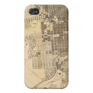 Bancroft's official Guide Map of San Francisco iPhone 4 Cases