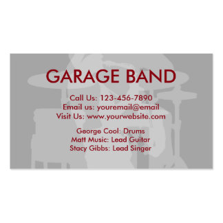 3000 band business cards and band business card for Band business cards