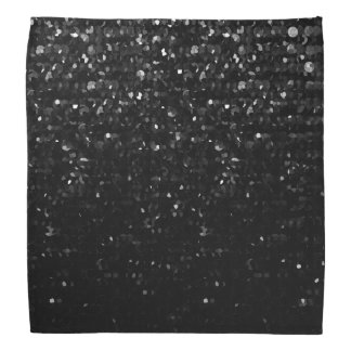 Bandanna Black Crystal Bling Strass