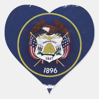 Bandeira de Utah Heart Stickers