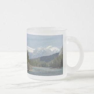 Banff Alberta Canada Frosted Glass Coffee Mug