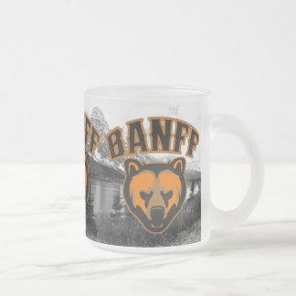 Banff Bear Face Logo Frosted Glass Coffee Mug
