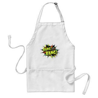Bang bang comic book effect sound standard apron