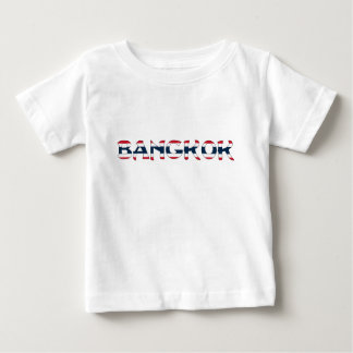 Bangkok Apparel with Thai Flag Background Baby T-Shirt