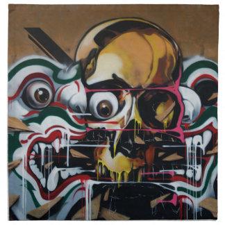 Bangkok Skull Graffiti Napkin