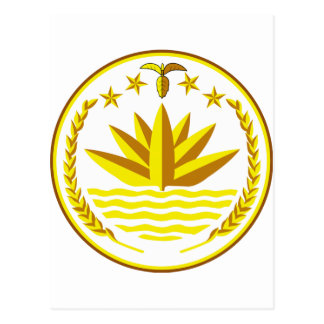Bangladesh Coat of Arms Postcard