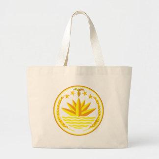 bangladesh emblem large tote bag