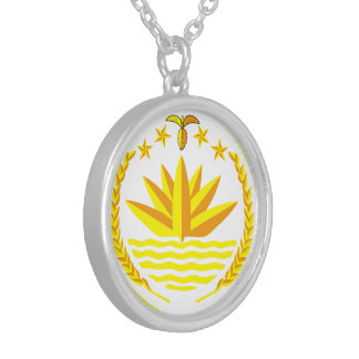 Bangladesh Medium Silver Plated Round Necklace