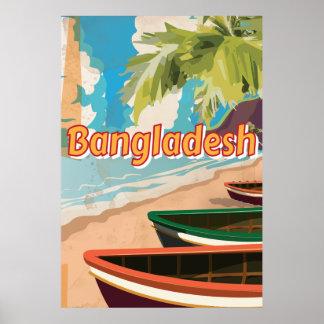 Bangladesh Vintage vacation Poster