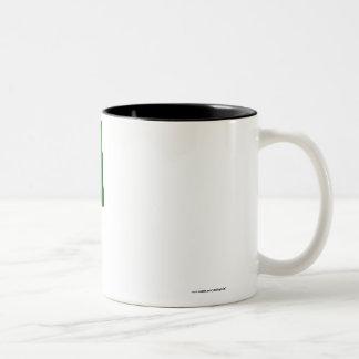 Bangladesh Waving Flag Two-Tone Coffee Mug