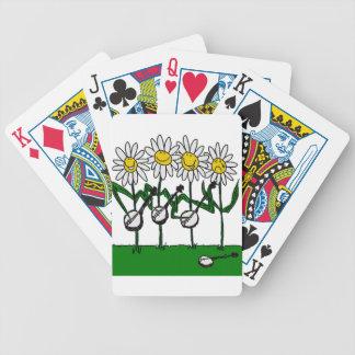 Banjo Flowers Bicycle Playing Cards