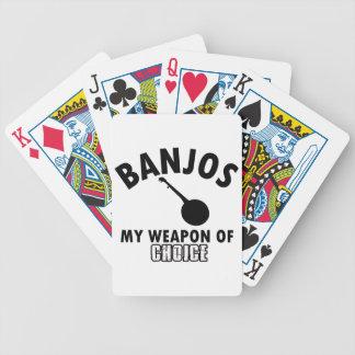 banjos bicycle playing cards