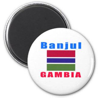 Banjul Gambia capital designs Magnet