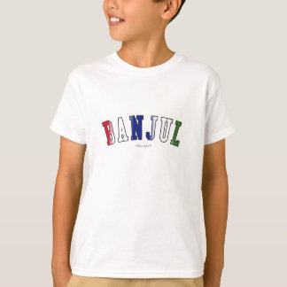 Banjul in Gambia national flag colors T-Shirt