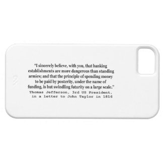 Banks Are More Dangerous Than Standing Armies iPhone 5 Cover
