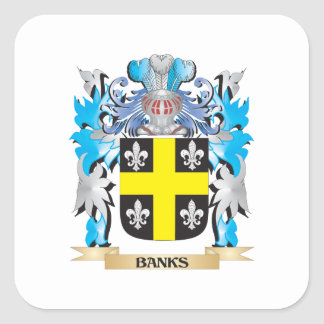 Banks Coat of Arms Stickers