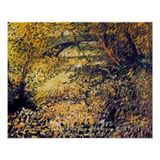 Banks of the Seine in the Spring Vincent van Gogh Poster