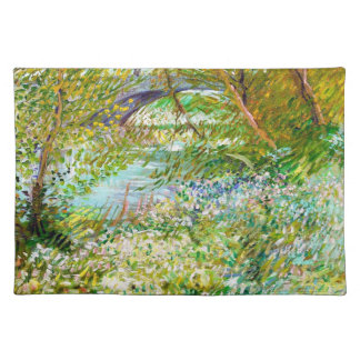 Banks of the Seine  Pont  Clichy Van Gogh painting Placemat