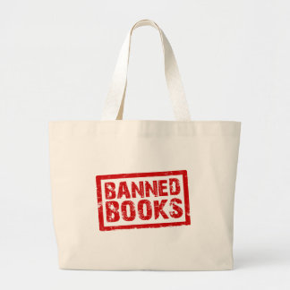 Banned books large tote bag
