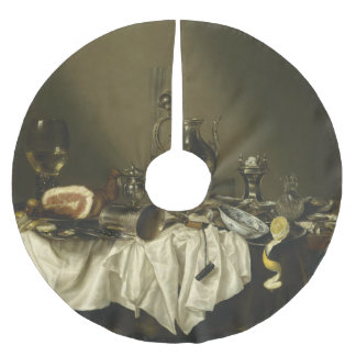 Banquet Piece with Ham by Willem Claesz Heda Brushed Polyester Tree Skirt