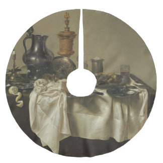 Banquet Piece with Mince Pie by Willem Claesz Heda Brushed Polyester Tree Skirt