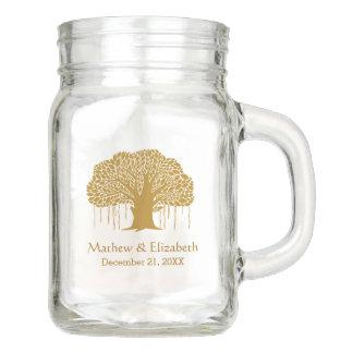 Banyan Tree Rustic Outdoor Wedding Mason Jar