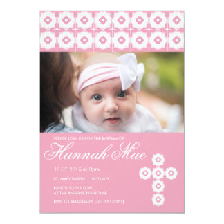 Baptism, Christening, Communion Invitation - Girl