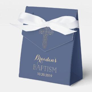 Baptism, Christening Favor Box - Gold Cross Favour Boxes