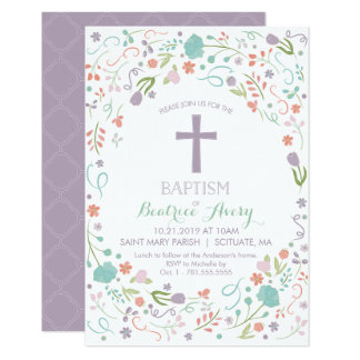Baptism, Christening Invitation - Customized