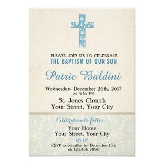 Baptism, Christening Invitation for BOY