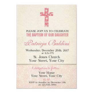 Baptism, Christening Invitation for GIRL