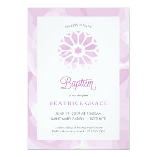 Baptism, Christening Invitation, Girls Invite
