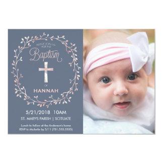 Baptism, Christening Photo Invitation - Baby Girl