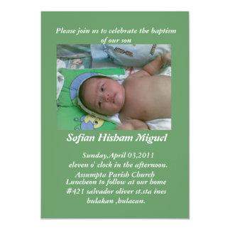 baptism invitation... card
