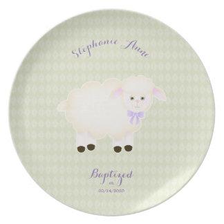 Baptism Lamb Plate