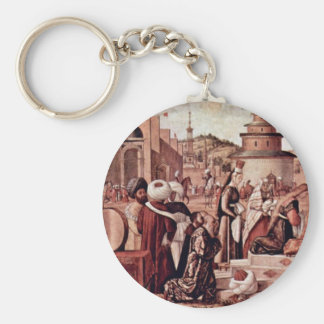 Baptism Of Believers By St George By Carpaccio Key Chain