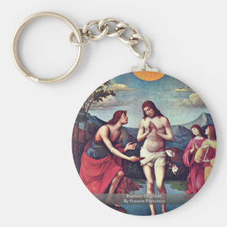 Baptism Of Christ By Francia Francesco Key Chain