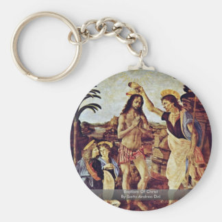 Baptism Of Christ By Sarto Andrea Del Keychain